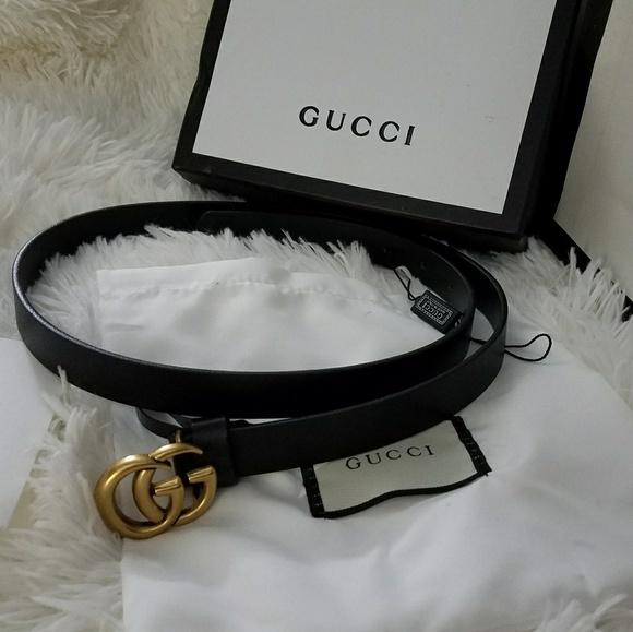 f08d2d0fe487 Gucci Accessories | Thin Black Belt | Poshmark